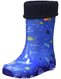 Toughees Shoes  Character Welly With Removable Sock, Bottes de Pluie mixte enfant - bleu - Bleu (Bleu), 25 EU