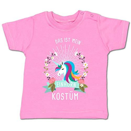 (Karneval und Fasching Baby - Das ist Mein Einhorn Kostüm Blumenkranz - 12-18 Monate - Pink - BZ02 - Baby T-Shirt Kurzarm)