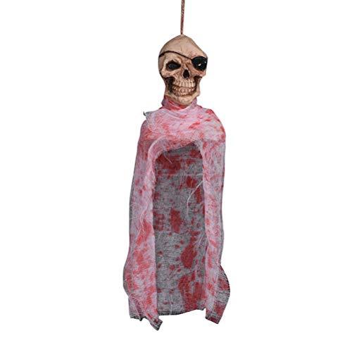 Amosfun Hängender Horror-Verzierungs-Anhänger Halloween-Dekoration für Patio-Rasen-Garten