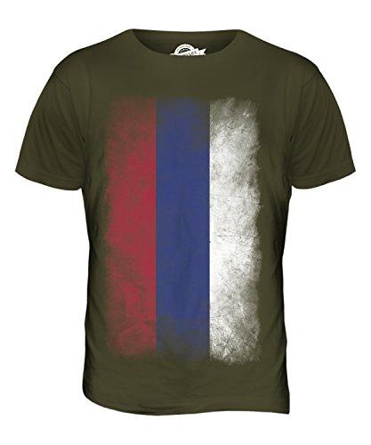 CandyMix Republika Srpska Verblichen Flagge Herren T Shirt Khaki Grün