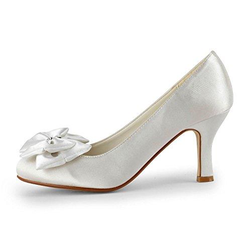Miyoopark , Sandales Compensées femme White-11.5cm Heel