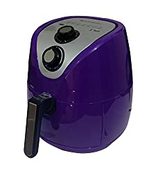 Wonderchef Prato Premium Air Fryer (2.5 L), With Temperature And Timer Control, Detachable Basket And Handle, Perfect For Bake, Grill, Roast And Fry - 1500 Watt (Purple)