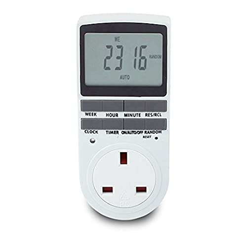 sourcingmap® UK Timer Socket/LCD Display Digital Programmable Plug Wall Home Switch
