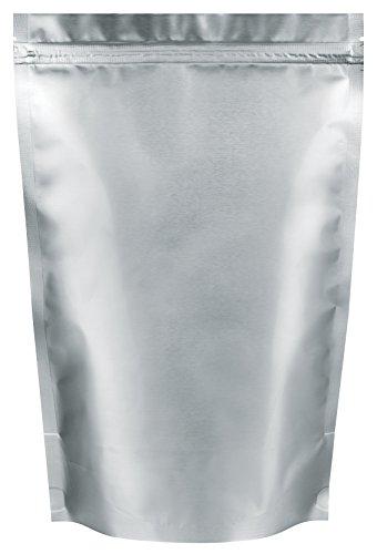 h - Aluminium - matt Finish - Mylar - ZIPLOC Grip Seal, Aluminium, 21cm x 30cm (Silber Mylar)