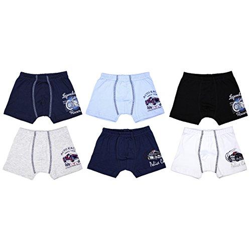 TupTam Jungen Unterhosen Slips o. Boxershorts 6er Pack, Farbe: Farbenmix 3, Größe: 92-98