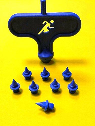 100 Spikes und 2 Spikeschlüssel für Leichtathletik Spikes Dornen 6mm Spike Nägel Pyramide -