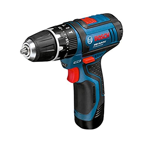 Bosch Professional GSB 10.8-2-LI Cordless Combi Drill with two 12