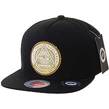 WITHMOONS Baseballmütze Mützen Caps Snapback Hat Illuminati Patch Hip Hop Baseball Cap AL2344