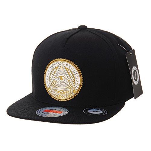 WITHMOONS Casquette de Baseball Snapback Hat Illuminati Patch Hip Hop Baseball Cap AL2344