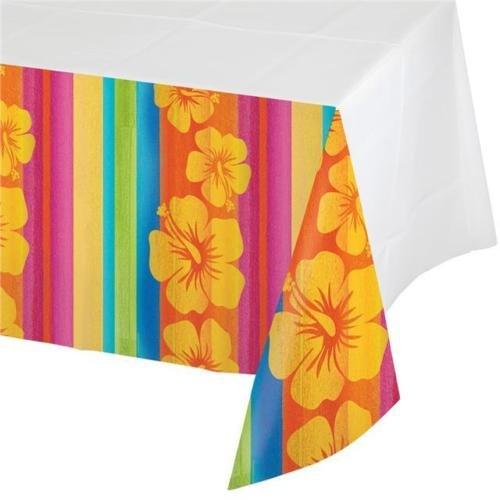 Sunset Streifen Tropical Kunststoff Party Tischdecke