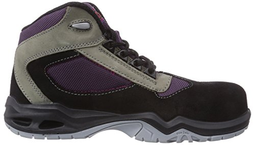 MTS Sicherheitsschuhe M-soft Lucie S2 46806, Chaussures de sécurité femme Noir - Schwarz (schwarz/lila/beige)