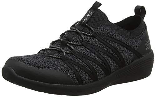 Skechers Damen Arya Slip On Sneaker, ((Navy Heather Mesh/Durabuck/Hot Melt/White Trim BBK), 5.5 EU -