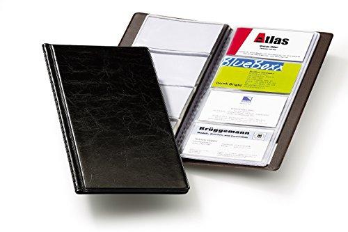 Durable 238001 Visitenkartenalbum Visifix 2380 (für 96 Karten 90 x 57 mm, 115 x 253 x 8, 5 mm) schwarz