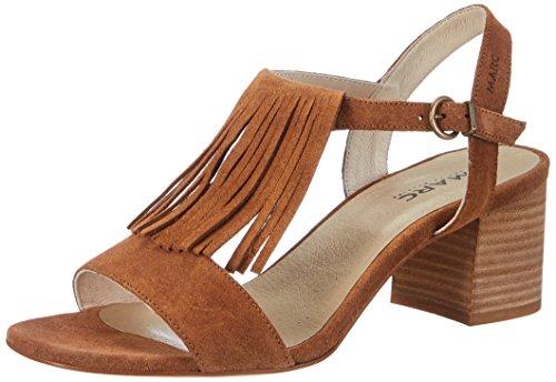 Marc Shoes Damen Celine Slingback Sandalen Braun (Braun)