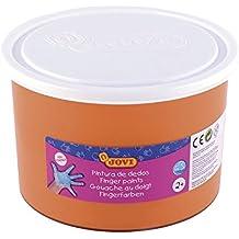 Jovi - Bote con pintura de dedos, 500 ml, color naranja (56106)
