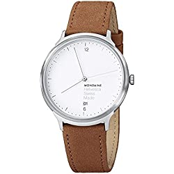Mondaine Unisex-Armbanduhr Helvetica No1 Light 38mm Analog Quarz MH1.L2210.LG