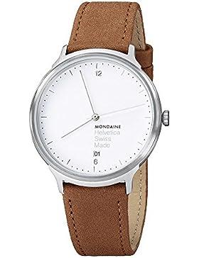 Mondaine Unisex-Armbanduhr Helvetica No1 Light 38mm Analog Quarz MH1.L2210.LG