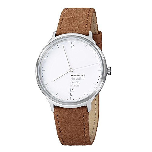 mondaine-helvetica-no1-light-orologio-da-polso-display-analogico-unisex-cinturino-pelle-marrone