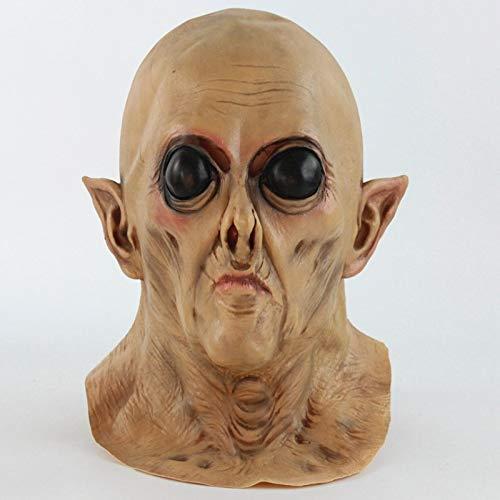 baoqsure Halloween Horror Alien Maske Beängstigend Realistische PVC Maske Party Schädel Spectre Diviner Zombie Dead Zombie Teufel Maske Cosplay Requisiten