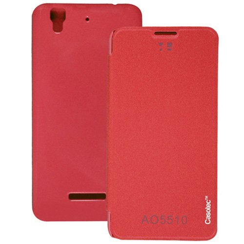 Casotec Premium Flip Case Cover for Micromax Yu Yureka AQ5510 / AO5510 - Red  available at amazon for Rs.179