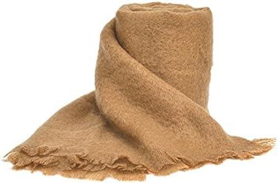 Ania manta de Mohair/lana/poliamida, marrón color, 230x 260cm