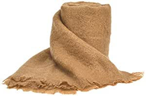 Ania Blanket  Made from Mohair / Wool / Polyamide, Camel Colour, 230 x 260 cm