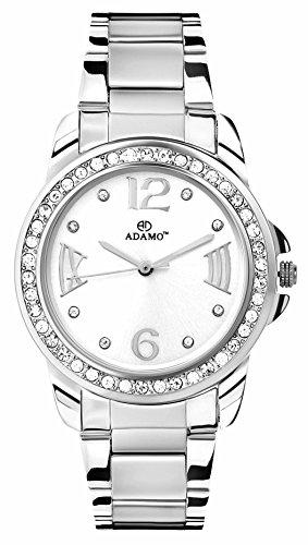 Adamo Analog White Dial women's Watch - AD39SM01