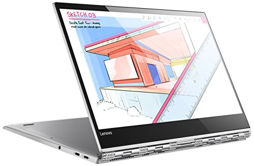 s 35,3 cm (13,9 Zoll Ultra HD IPS Multi-Touch) Convertible Notebook (Intel Core i5-8250U, 8GB RAM, 256GB SSD, Intel UHD Grafik 620, Windows 10 Home) silber (Lenovo Platin)