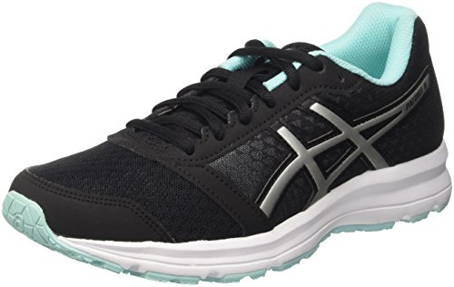 asics-womens-patriot-8-running-shoes-black-black-silver-aruba-blue-6-uk