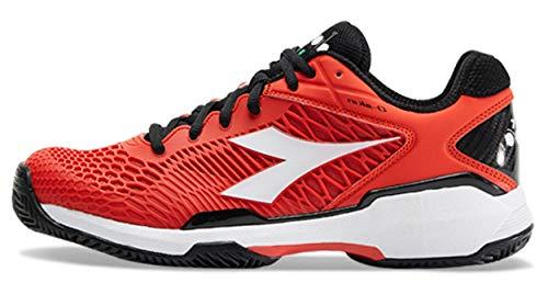 Diadora Speed Competition 5 Clay - Scarpe da Tennis da Uomo, Colore Rosso/Bianco, Multicolore (Rot), 48 EU
