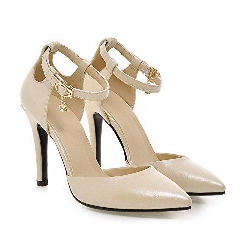 Adee Femme High-Heels antidérapante en polyuréthane Pompes Chaussures Beige - Orange abricot