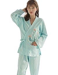 5499dee7a XFentech Mujer Lactancia Amamantamiento Pijamas Conjunto - 3 Piezas Algodón  Lindo Pijama Ropa de Dormir