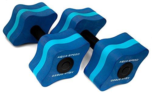 Aqua Speed Wasser Hanteln für Erwachsene I Schwimmhanteln Aqua Aerobic I Fitness I Hantel Wassergymnastik I Wassersport I Aquafitness I Wasserhanteln Training im Pool I Übungen I Eva-Schaum