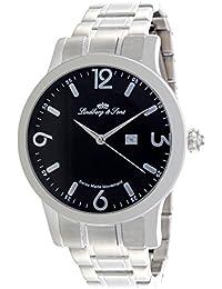 Lindberg & Sons LSSM201 - Reloj pulsera analógico para hombre de cuarzo (calibre Suizo), correa de acero inoxidable plateado