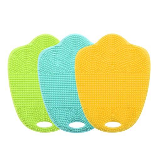 amm, antibakteriell, 3 Stück, Topflappen, Mehrzweck-Geschirrspülen, schimmelfrei, antimikrobiell fein One Size Minty Green+screengreen+Yellow ()