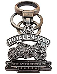 Key Era Royal Enfield With Rd Hook For Bullet Antique Bronze Colour With Logo Keychain & Keyring For Bikes, Cars...