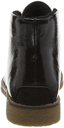 s.Oliver 26110, Polacchine Donna Nero (Black Patent 018)