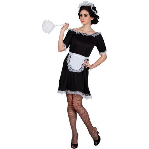 Klassisch Sexy Zimmermädchen Verkleidungsparty Karneval Halloween Kostüm XL