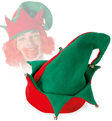 FASCHING 38912 Wichtelmütze Wichtel Mütze Hut Elf (Kostüme Kinder Elf)