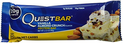 Quest Nutrition Quest Protein Bar Vanilla Almond Crunch Bar, 12 Count, 25.4 Ounce (Protein Vanille-quest)