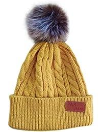 58739c3d6 KOLY Invierno Niño Niña Sombrero hecho punto lindo del bebé del nuevo  estilo Sombreros de bebé Earflaps Niños Tejido de punto…
