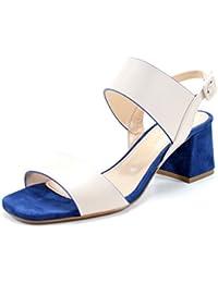 Giorgio Rea Sandalias para mujeres hechos a mano en Italia con encanto cómodo talón de 6 cm. cuero genuino zapatos del partido evento ceremonia hecha a mano de alta costura