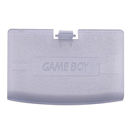 GBA Zubehör, eJiasu Kunststoff Tür Ersatzteile Zurück Abdeckung Batterie Ersatz für Nintendo Game Boy Advance / GBA / Gameboy Advance System (Transparent Lila)