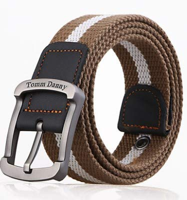 53e7cdb6af9 ZYYGSS Tactical Belt nylon belt Nylon simple pin buckle canvas narrative  youth casual two-sided