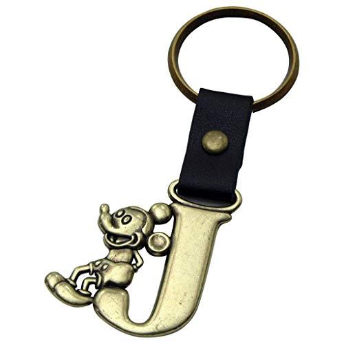 Disney Micky Maus Buchstabe J Messing Schlüsselanhänger (Disney Mickey Schlüsselanhänger)