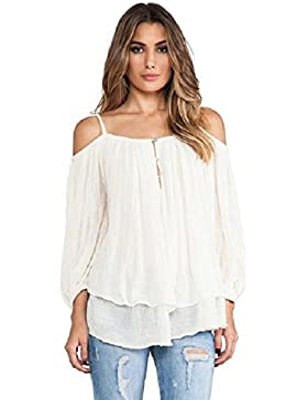 Culater® Las mujeres del tirante de espagueti del hombro ocasionales camisa de la blusa Tops