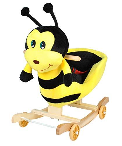 Iso Trade Schaukeltier Schaukelpferd Schaukelspielzeug Verschiedene Tiere Plüsch #4972, Muster:Biene
