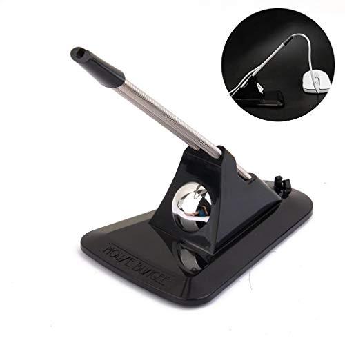 Ratón Bungee Mouse Cable Gestión Fixer Holder Negro