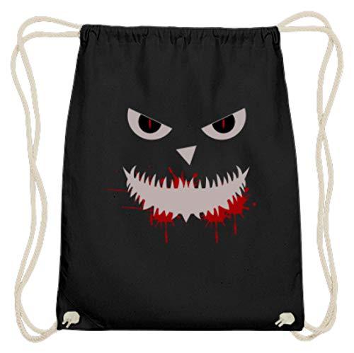 Hochwertige Baumwoll Gymsac - Monster Gesicht Motiv Halloween Party - Schlichtes Und Witziges Design -