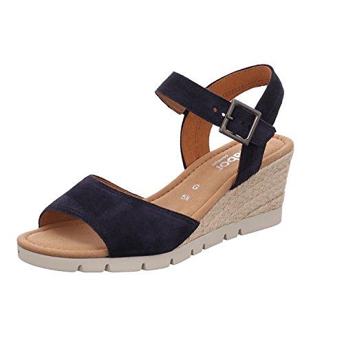 Gabor Nieve Womens Wedge Heel Sandalen 8 UK/ 42 EU Ocean Suede SS18